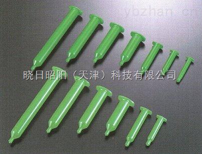 带活塞的绿色卡式针筒