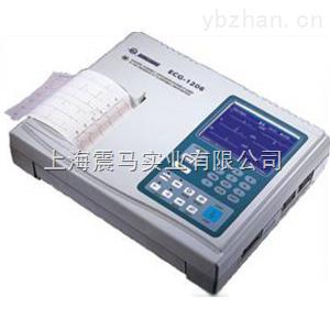 现货供应ECG-1206六道5.1寸显示数字自动分析心电图机