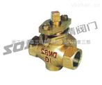 旋塞閥圖片系列:X14W-1.0T三通內螺全銅旋塞閥