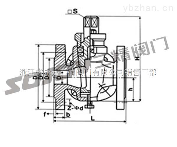 X14W-X14W三通內螺不銹鋼旋塞閥
