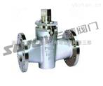 旋塞阀图片系列:X43W-1.0P/R不锈钢旋塞阀