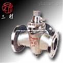旋塞阀图片系列:X44W-1.0P/R三通不锈钢旋塞阀