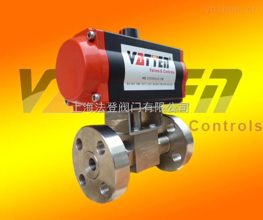 德國vatten高壓氣動2通/3通球閥 316L不銹鋼高壓法蘭球閥