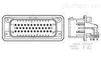 连接器公端AMPSEAL泰科料号1-776163-4镀金信号电源通孔连接器