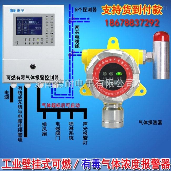 化工厂厂房醋酸乙酯气体浓度报警器,气体浓度报警器安装接几根线