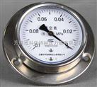 带边盘装耐震真空压力表型号规格,量程,精度等级