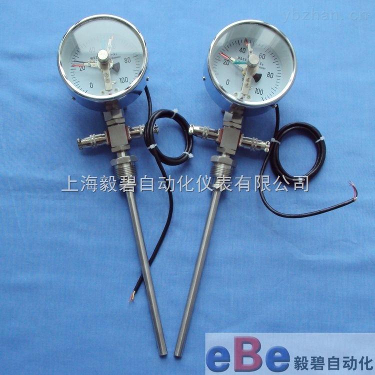 WTYY2-1031-X2-徑向型雙支遠傳電接點雙金屬溫度計WTYY2-1031-X2