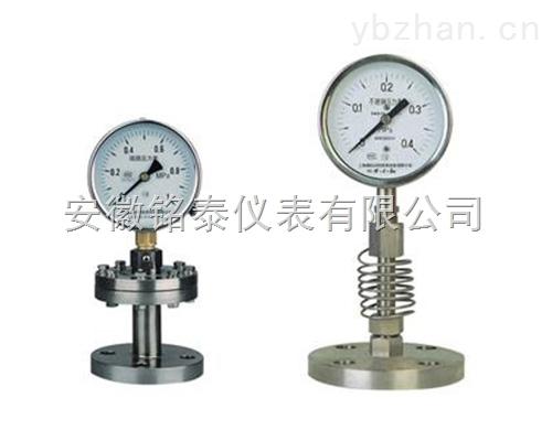 强腐蚀性YMN系列隔膜式耐振压力表