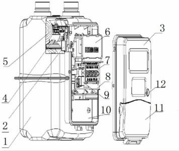 【仪表专利】带温度补偿功能的阶梯计费智能燃气表