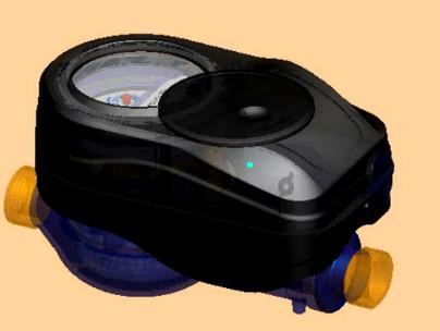 无线阀控光电直读水表