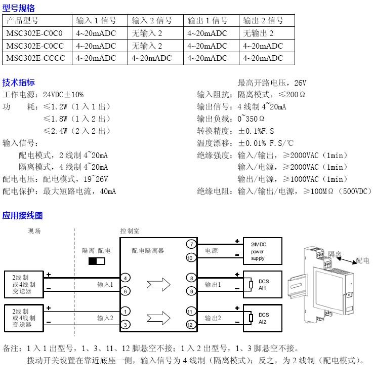 msc302e配电隔离器