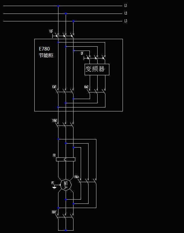 开关;sb2为变频器复位按钮;控制回路设置4个显示灯,分别显示电源上电
