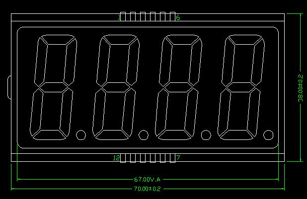 人體電子秤顯示器接線圖