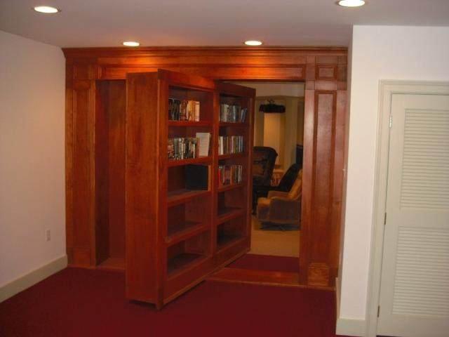 书柜旋转隐形门