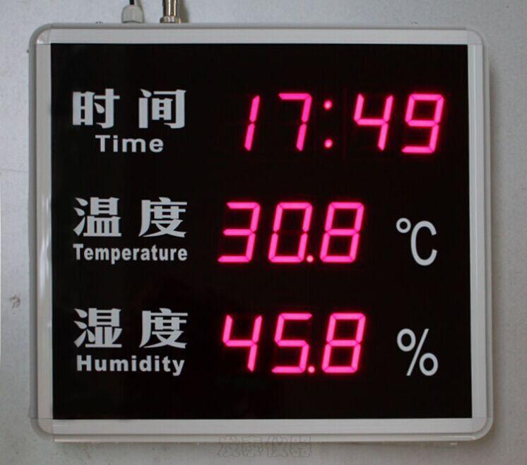 HTTRCT时间温湿度显示屏简介 一、HTTRCT时间温湿度显示屏主要功能和特点 RC-HTTRCT系列温湿度显示屏采用国际最新科技生产的具有时间、温度、湿度采集显示功能的商用时间、温湿度显示设备,具有下列特点: a) 采用静态数字显示,防止数字及图像闪烁,表面贴膜,减少白光,适于工厂、车间、实验室、仓库使用。 b) 采用超高精度时钟解决方案,时钟精度可达2PPM,误差小于20秒/年,一年内无需调准时钟。 c) 选用国际著名厂商的温湿度传感器,适用于需要精确可靠检测温度、湿度的用户。
